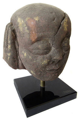 Ming Dynasty Chinese Buddha's Attendant Stone Head