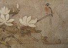 Japanese Momoyama Scroll with Bird