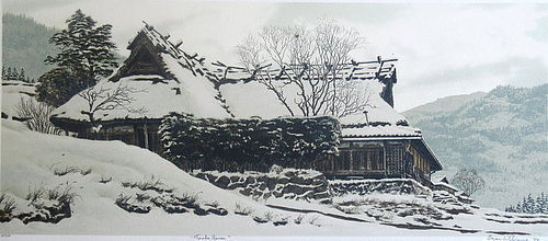 """Tamba House"" Original Etching by Brian Williams"