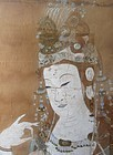 Antique Chinese Painting of Quan Yin