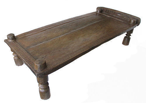 Indian Antique Teak Bastar Bed