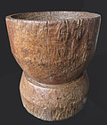 Antique Wooden Lusong (Mortar) from the Philippines