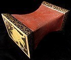 Antique Japanese Gilt Lacquer Pillow