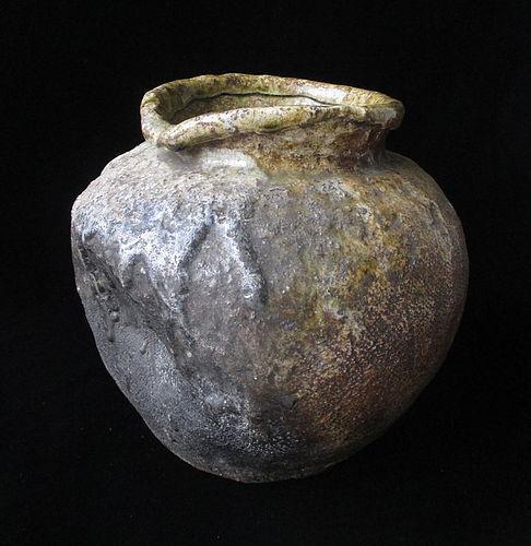 Japanese Small Shigaraki Jar