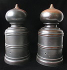 Japanese Pair of Large Bronze Giboshi, Bridge Finials