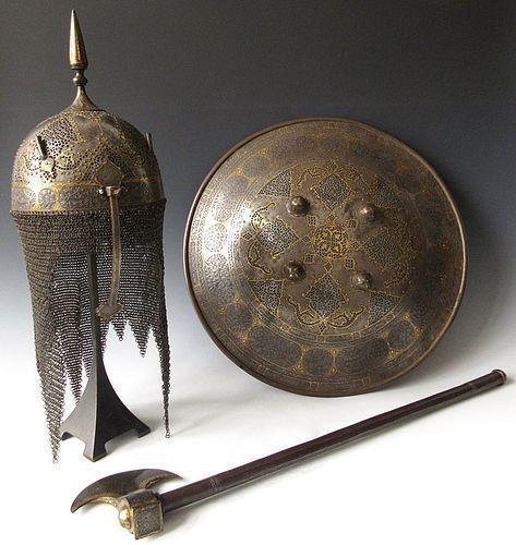 Incredible 3-Pc Set of Persian Armor