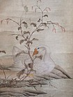 Antique Chinese Scroll Painting by Chen Mei