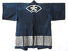 Antique Japanese Indigo Coat with Fan Design