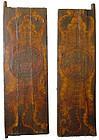 Unique Pair of 18th Century Tibetan Painted Doors