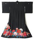 Japanese Kimono with Peonies