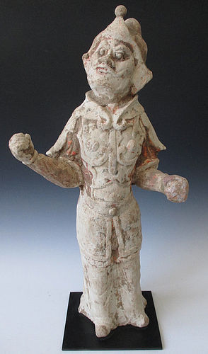 Chinese Tang Dynasty Pottery Figure of a General