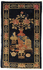 Chinese Pao Tao Peking Rug w/ Scholar's Objects and Flowers