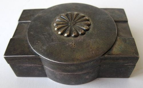 Antique Japanese Silver Box with Imperial Chrysanthemum