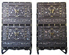 Incredible Pair of Korean Inlaid Ichung Nong