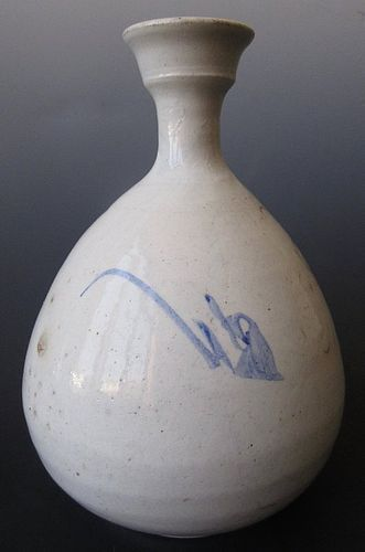Unusual Antique Korean Porcelain Bottle Vase