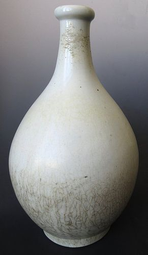 Antique Korean Large Porcelain Crackle Vase