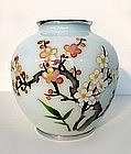 Japanese Cloisonne Vase with Plum Blossoms