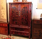 Antique Ching Dynasty Chinese Double Door Cabinet
