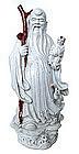 19th Century Chinese Blanc de Chine Wisdom God