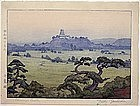 """Shirasagi Castle"" Woodblock Print by Toshi Yoshida"