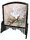Japanese Painted Tsuitate (standing screen panel).