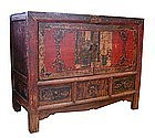 Inner Mongolian Painted Cabinet