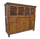 Mongolian Kitchen Cabinet with Lattice Doors