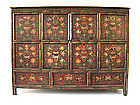 Tibetan Antique Painted Chest