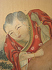 Chinese Antique Painting of Arhat and Child