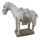 Chinese Ming Dynasty Tomb Pottery Figure of Horse