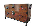Japanese Antique Isho Tansu (clothing chest) on Stand