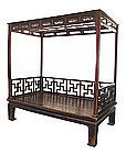 Chinese Antique Wedding Bed with Canopy