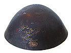 Japanese Antique Monk's Hat with Dragon