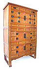 Large Antique Korean Three-level Kitchen Cabinet