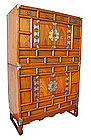 Antique Korean 2 Section Personal Chest