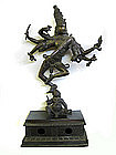 Antique Indian Bronze Sculpture of Shiva Nataraja