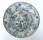 Chinese blue and white glazed plate