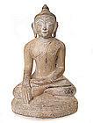 Burmese Marble Seated Buddha