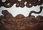 Japanese Meiji Period Keyaki Tiger Ranma