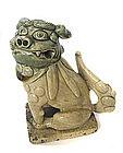 Japanese Meiji Period Oribe Fu Dog