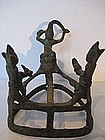 Burmese Bronze Antique Hair Cutting Ceremony Sculpture