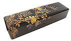 Japanese Antique Black and Gold Lacquer Letter Box