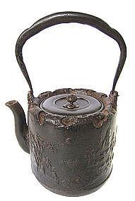 Japanese Cast Iron Tetsubin (tea pot) with Sage