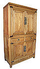 Chinese Light Wood 2 Section Cabinet