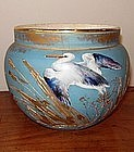 Japanese Satsuma Vase with Heron