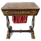 Beautiful Chinese Antique Lacquer Sewing Table