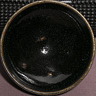 Extremely rare Jin dynasty Ding type black glazed blue spotted bowl