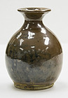 Fine Ming dynasty Cizhou brown glazed wine bottle, perfect conditions