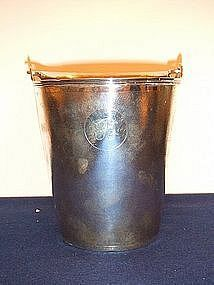MONOGRAMMED C19 CHINESE STERLING SILVER WINE COOLER