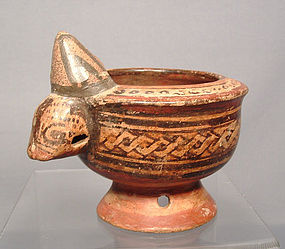 Ancient Pre-Columbian Nicoya Effigy Vessel